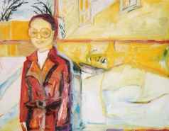 """""""A 70s Winter"""" oil on linen, 39 x 57 inches, 2001"""