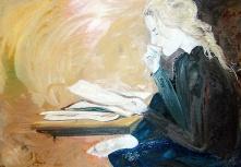 """""""Apprendre Par Coeur"""" oil on linen, 46 x 32 inches, 2006"""