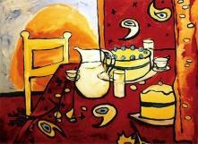 """""""Cakes"""" oil on linen, 2002"""