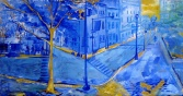 """""""Curtis In Blue"""" oil on linen, 2005"""