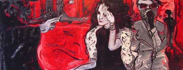 """""""Smoke"""" oil on linen, 26 x 70 inches, 2005"""